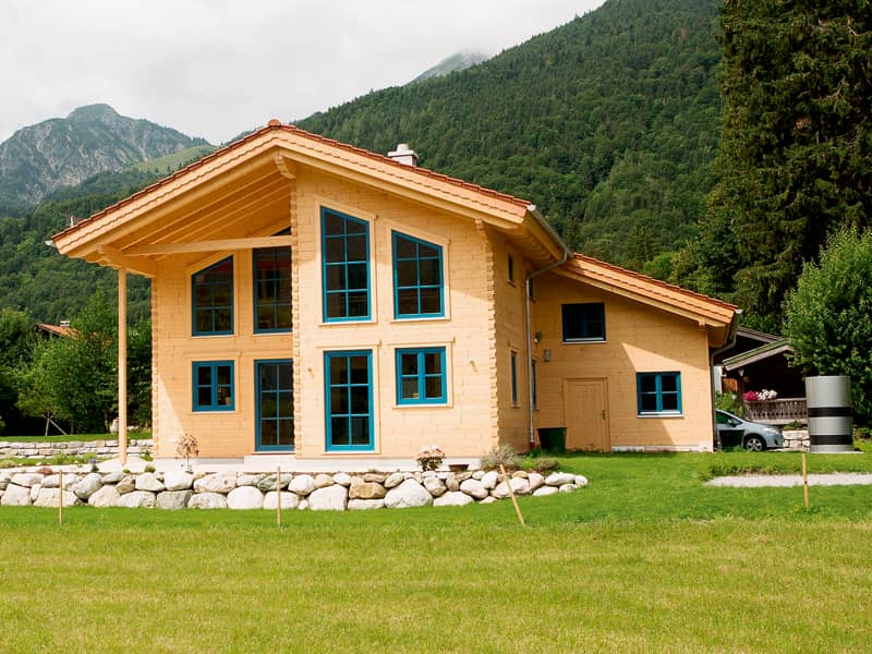 Blockhaus Allgäu von Chiemgauer Außenansicht