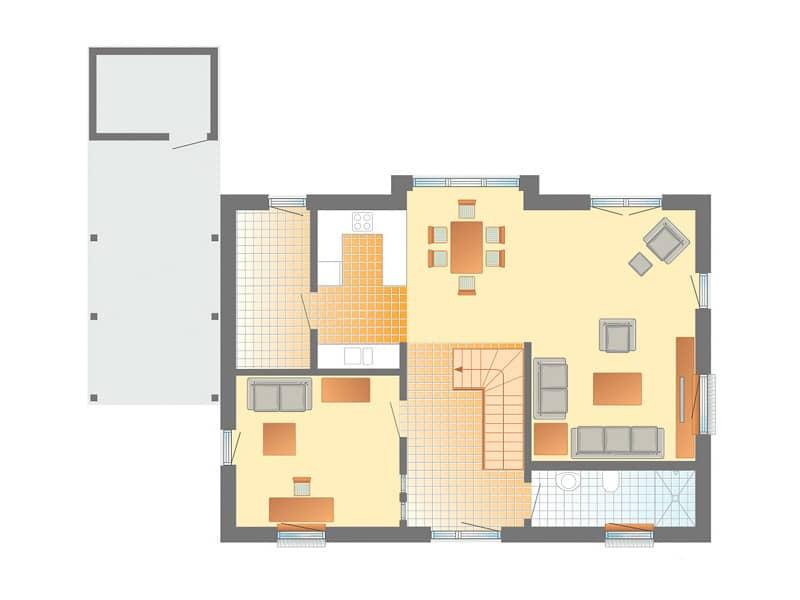 Grundriss Erdgeschoss Entwurf Kronshagen von Danhaus