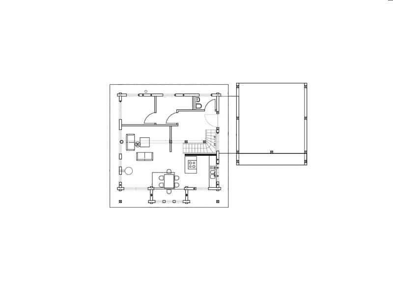 Grundriss Erdgeschoss Haus auf der Röth Fullwood