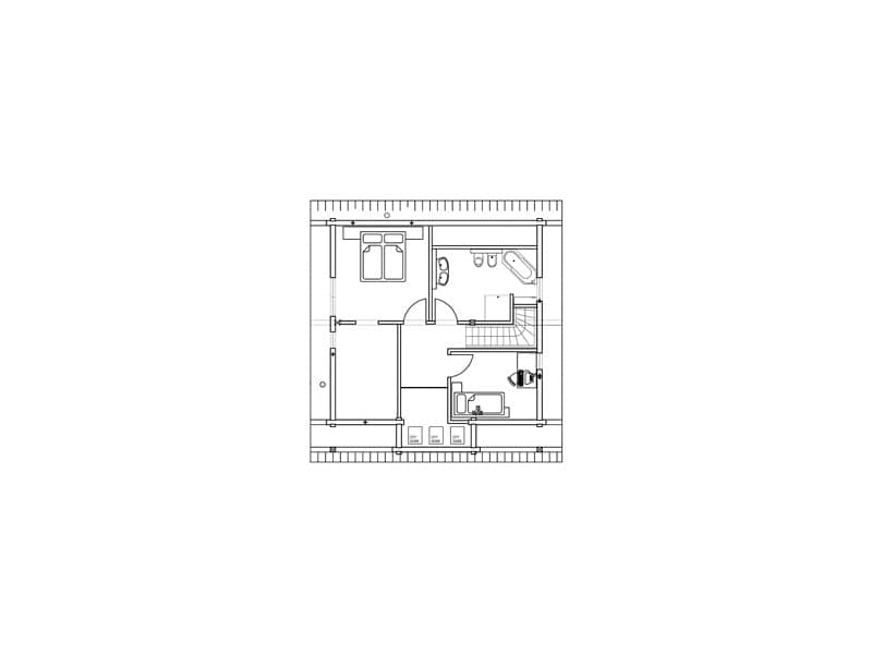 Grundriss Obergeschoss Haus auf der Röth Fullwood