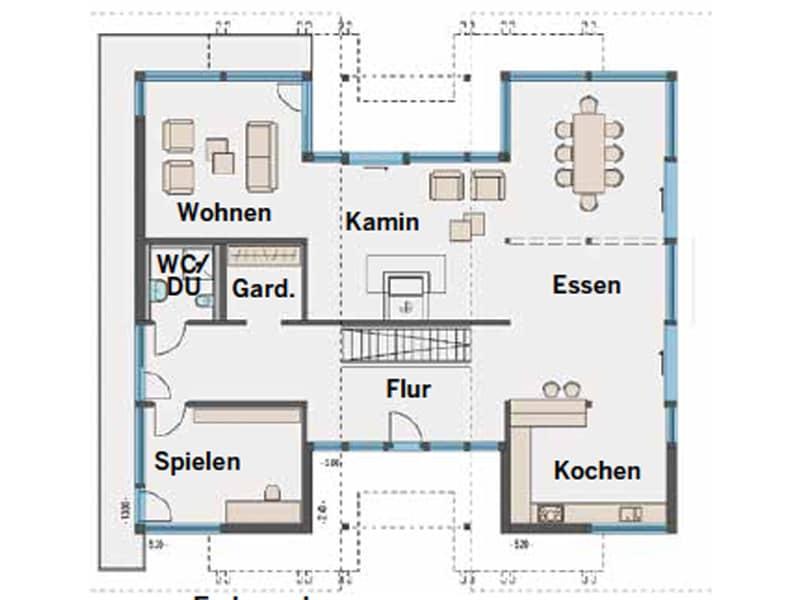Grundriss Ergeschoss Art 6 Wien von Huf Haus