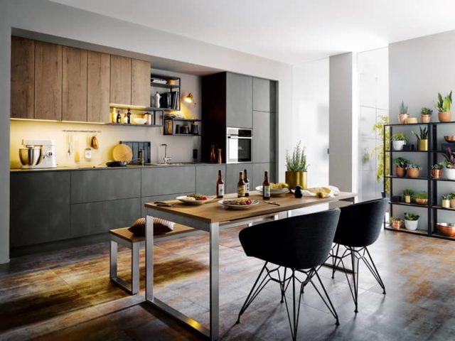 Küche_Stahldekor_Schüller