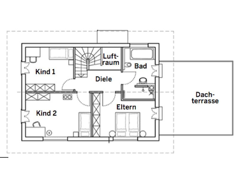Grundriss Dachgeschoss Entwurf Köln von Chiemgauer
