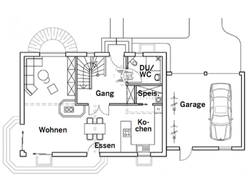 Grundriss Erdgeschoss Entwurf Köln von Chiemgauer