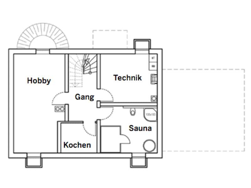 Grundriss Kellergeschoss Entwurf Köln von Chiemgauer