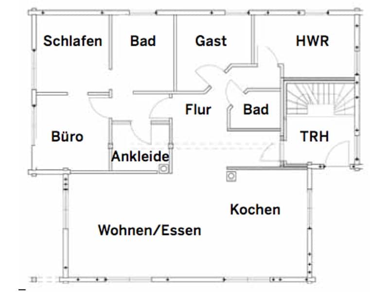 Grundriss Erdgeschoss Haus Heroldstatt von Fullwood
