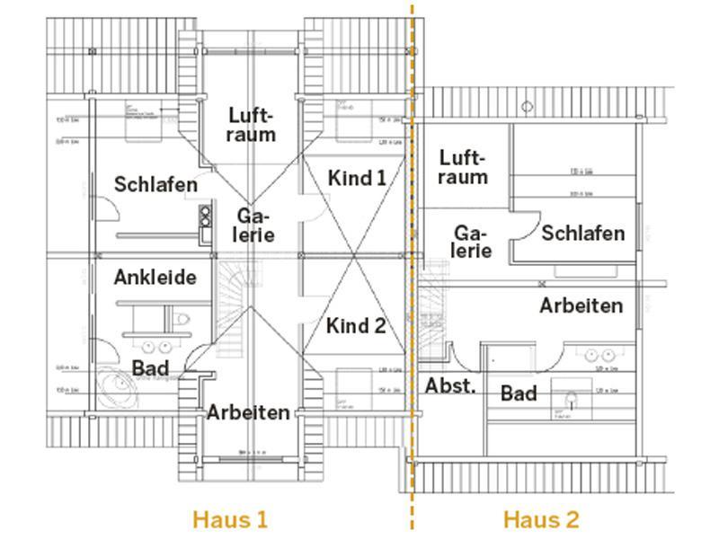 Grundriss Dachgeschoss Haus Oberpfalz von Fullwood