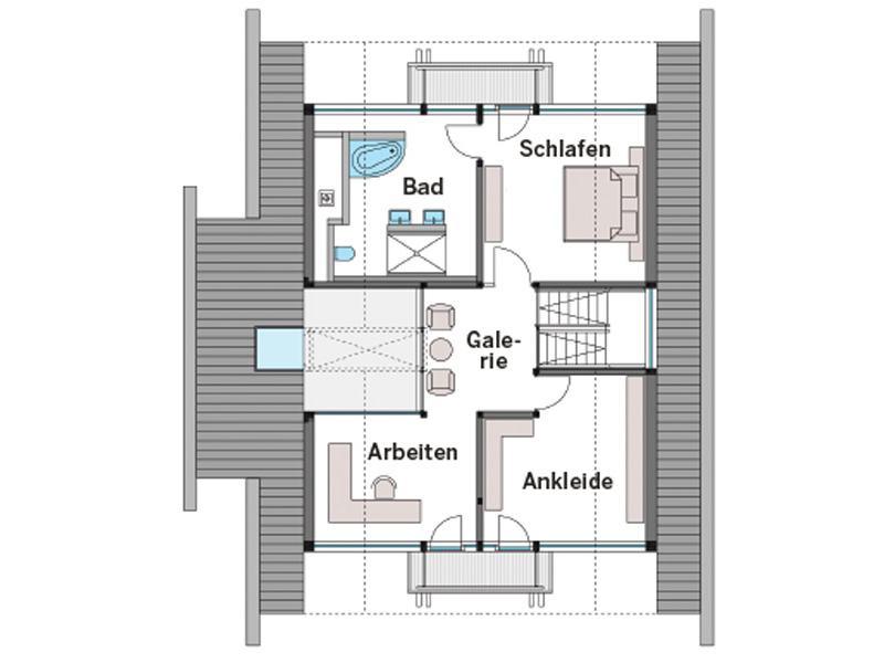 Grundriss Dachgeschoss Art 3 von Huf Haus
