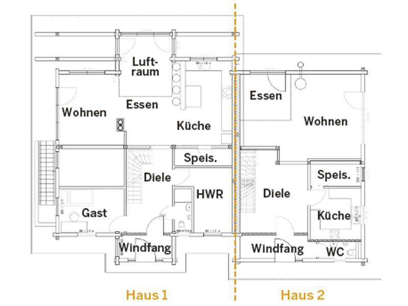 Grundriss Erdgeschoss Haus Oberpfalz von Fullwood