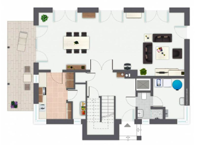 Grundriss Obergeschoss Entwurf Kaiserberg von Gussek