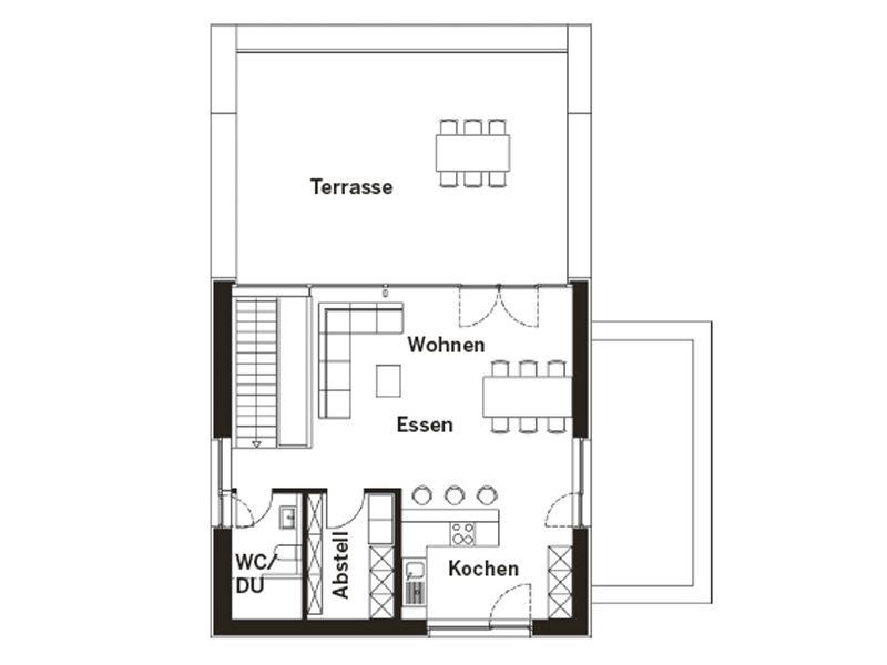 Grundriss Obergeschoss individueller Entwurf Oelde von KS