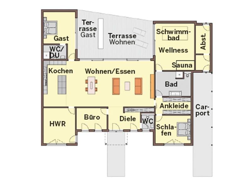 Grundriss Entwurf Rüsselsheim von Büdenbender