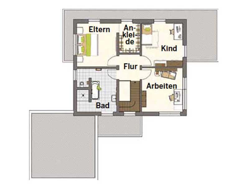 Grundriss Obergeschoss Entwurf Maxim von FingerHaus