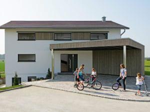 Entwurf Musterhaus Brettheim von Keitel Haus Carport