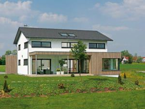Entwurf Musterhaus Brettheim von Keitel Haus Außenansicht