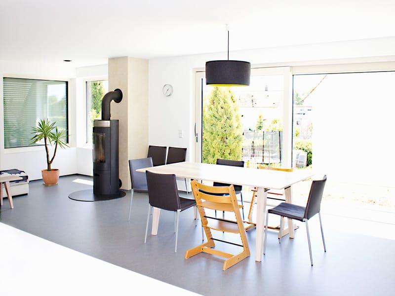 Entwurf Homestory 322 von Lehner Haus Wohn-Ess-Bereich