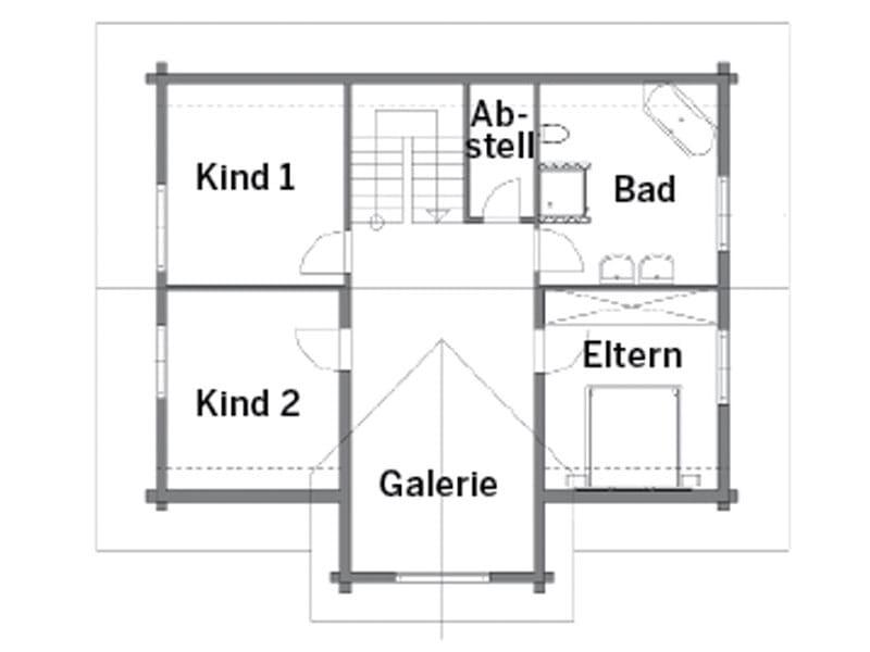 Grundriss Obergeschoss Entwurf Rosengarten von Rems-Murr