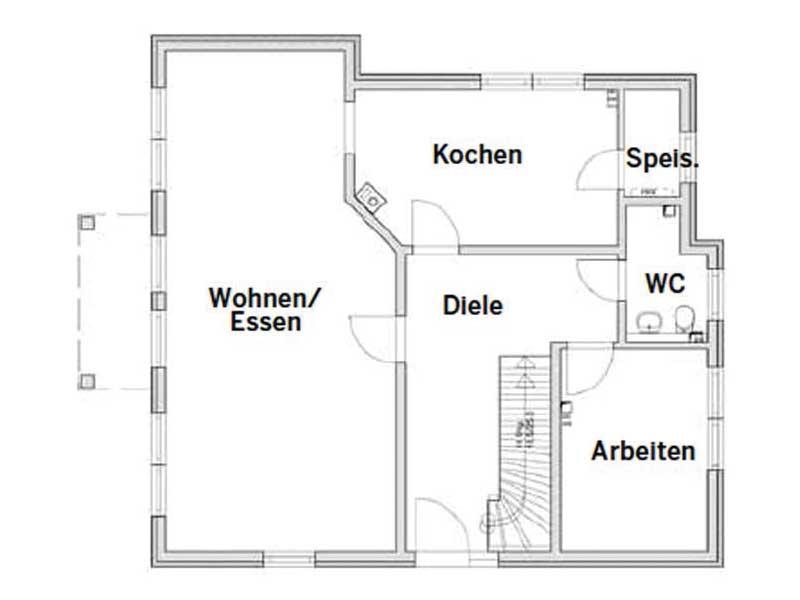 Grundriss Erdgeschoss Entwurf Föhr von Bau-GmbH Roth