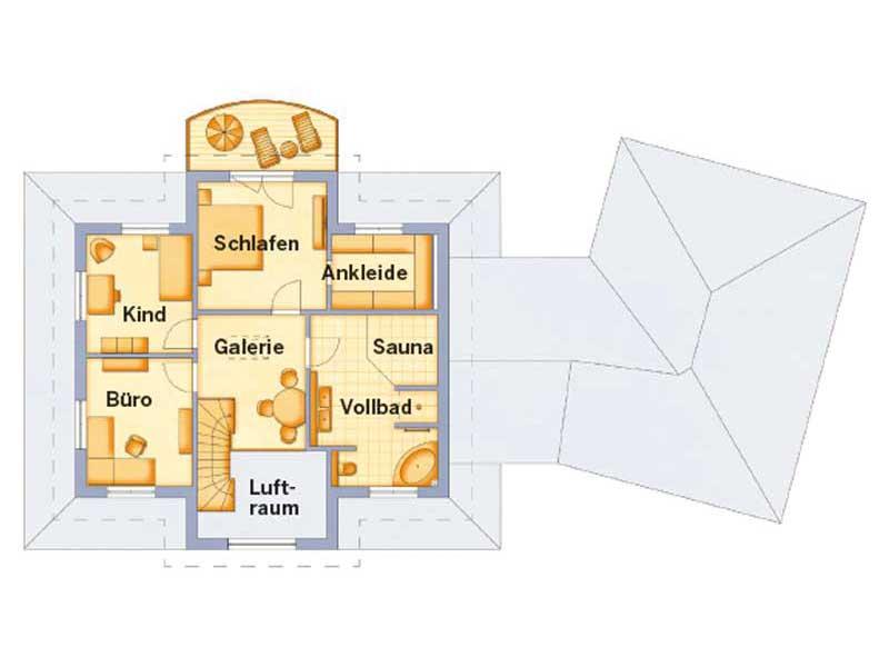 Grundriss Obergeschoss Entwurf VarioToscana 259 von VarioSelf