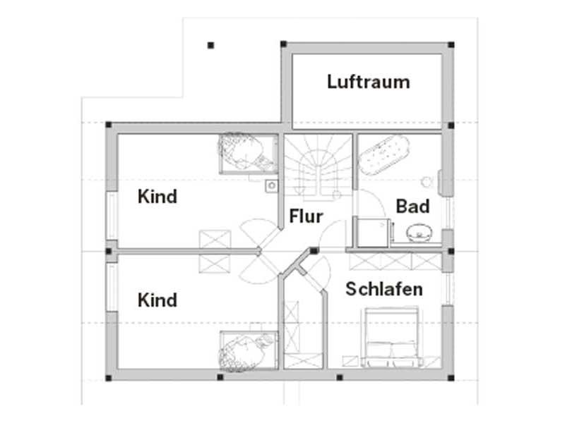 Grundriss Dachgeschoss Entwurf Revival von Vöma-Bio-Bau