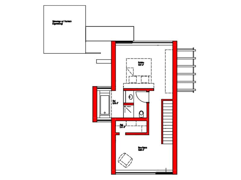 Grundriss Dachgeschoss Entwurf Dornhan Bettenhausen von Kitzlingerhaus