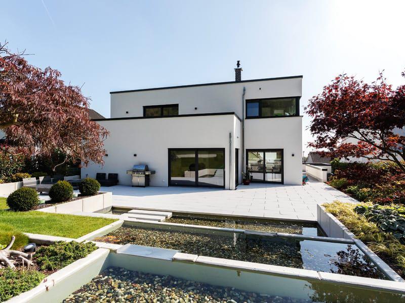 Haus Lehmann von Büdenbender Hausbau Gartenseite