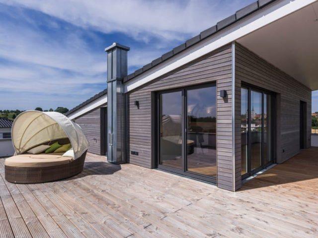 Kundenhaus Empfingen von Kitzlingerhaus Dachterrasse