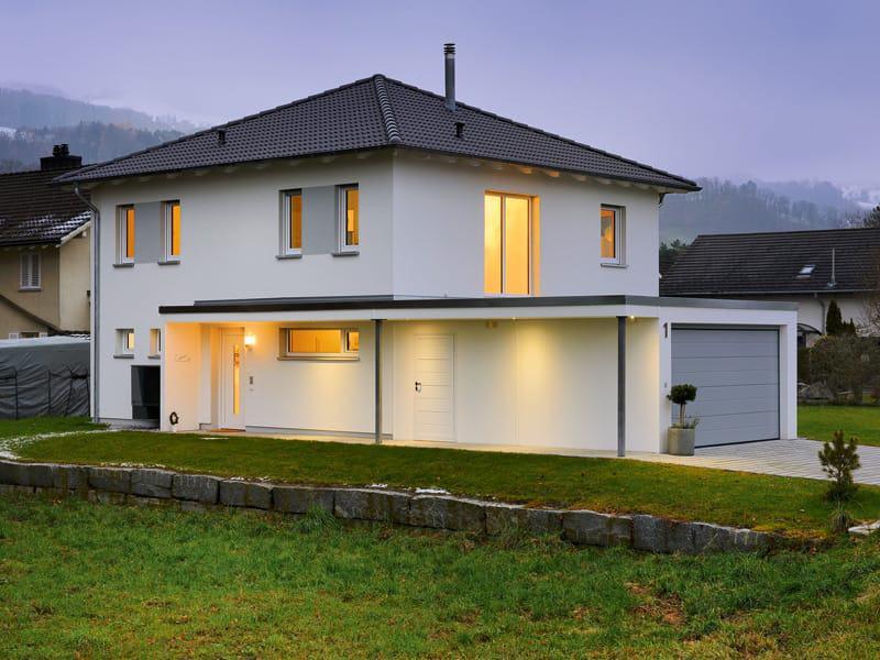 Stadtvilla SV 150 von Heinz von Heiden Hauseingangsseite