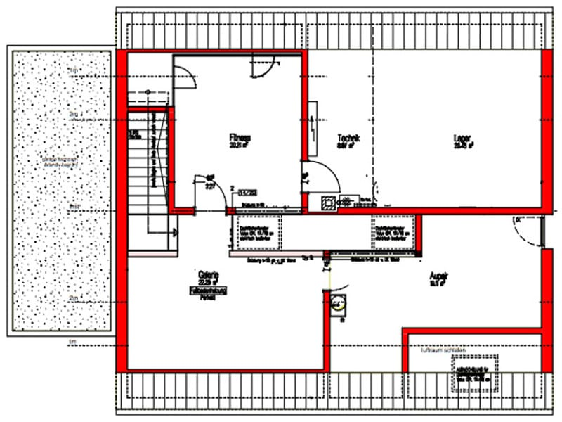 Dachgeschoss Kundenhaus Stuttgart von Kitzlingerhaus
