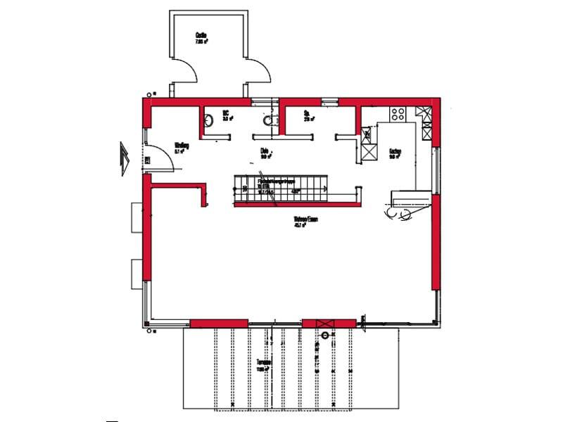 Erdgeschoss Entwurf Harthausen von Kitzlingerhaus