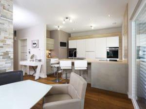 individuelles Kundenhaus Cartier von WeberHaus Küche