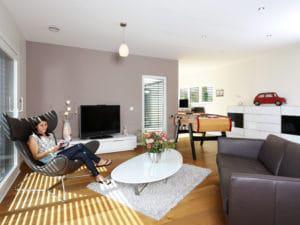 individuelles Kundenhaus Cartier von WeberHaus Wohnzimmer