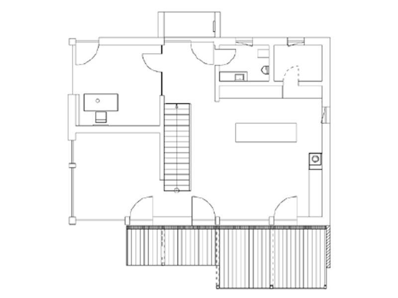 Grundriss Erdgeschoss Entwurf Heidi von Regnauer Hausbau