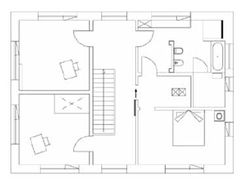 Grundriss Obergeschoss Entwurf Heidi von Regnauer Hausbau