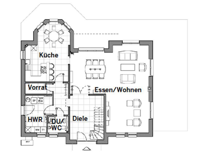 Grundriss Erdgeschoss Edition 700 von Viebrockhaus