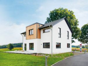 Musterhaus Günzburg von Fingerhut Haus Gartenansicht