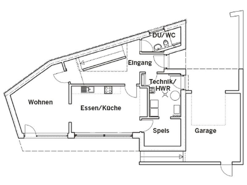 Grundriss Erdgeschoss Entwurf individuelle Planung von Keitel Haus