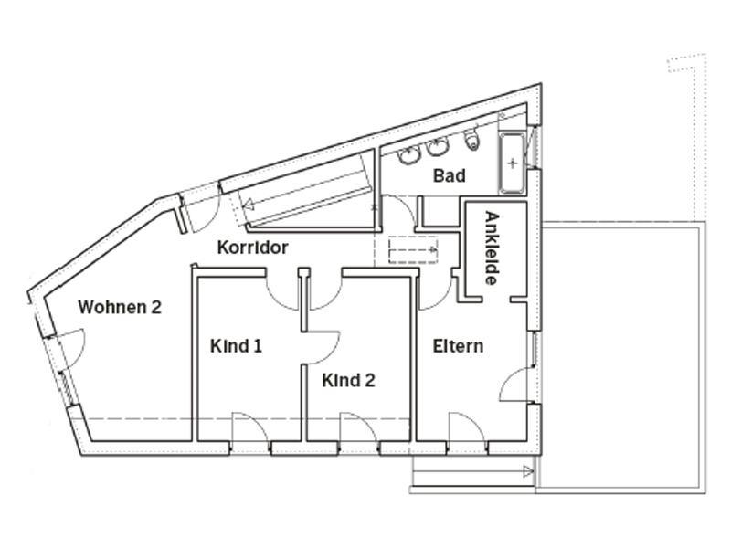 Grundriss Obergeschoss Entwurf individuelle Planung von Keitel Haus