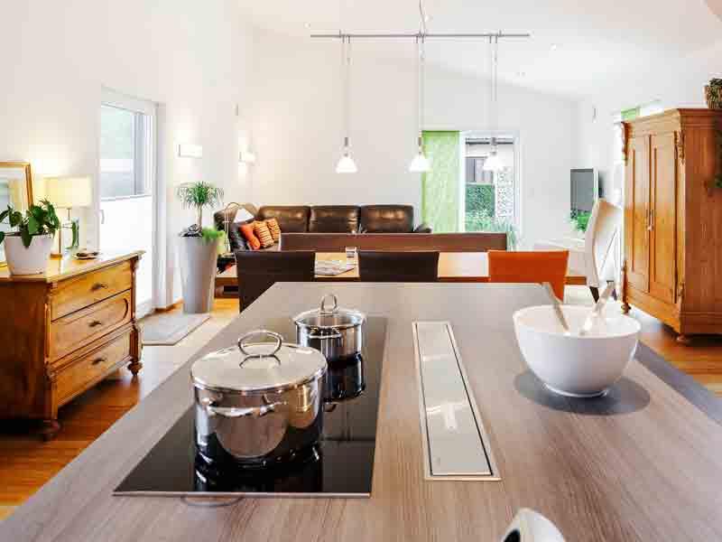 Bungalow Pultdach 145 Marx von Lux Haus Wohn-Ess-Bereich