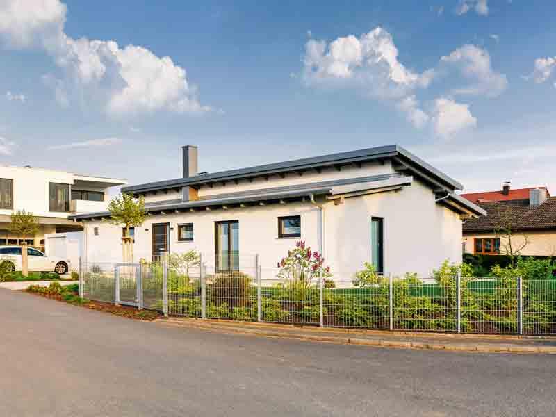 Bungalow Pultdach 145 Marx von Lux Haus Straßenseite