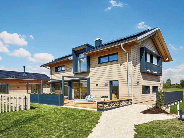 Außenansicht des Entwurfs 4.0 des Hausherstellers Baufritz