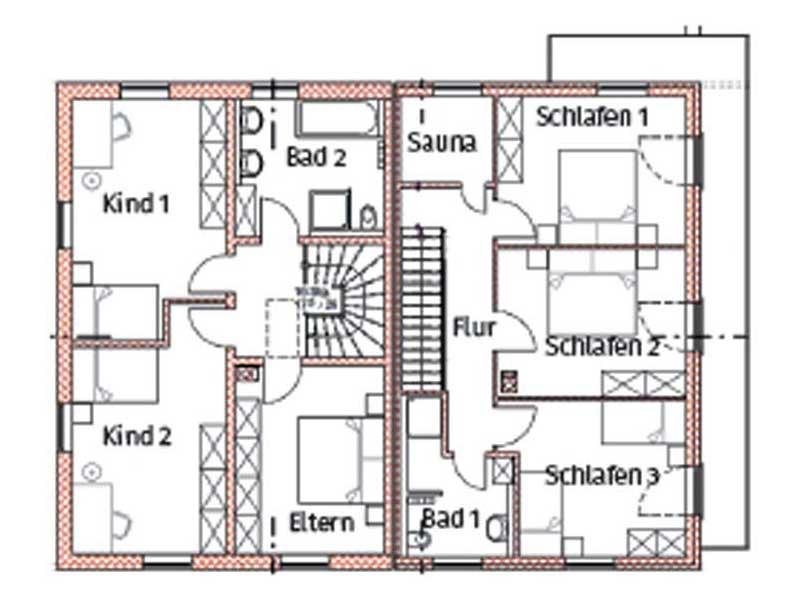 Grundriss Obergeschoss Berchtesgaden von Chiemgauer