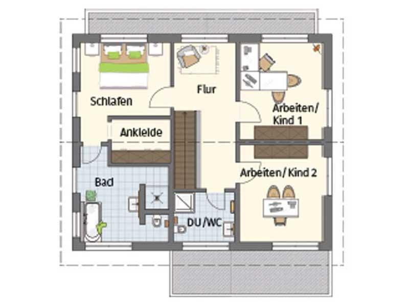 Grundriss Obergeschoss Medley 3.0 Fellbach von Fingerhaus