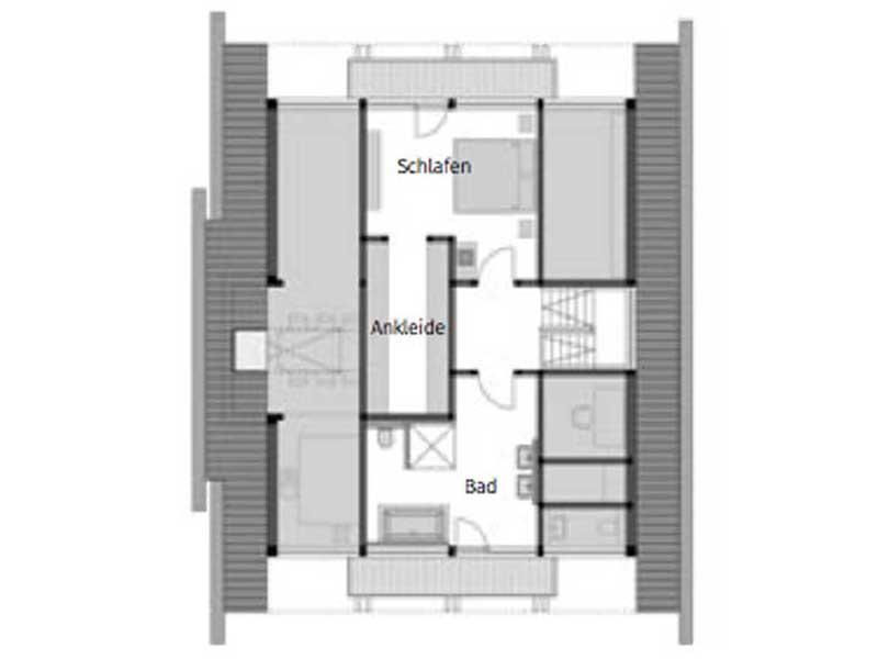 Grundriss Obergeschoss Huf Art 4 Frankfurt von Huf Haus