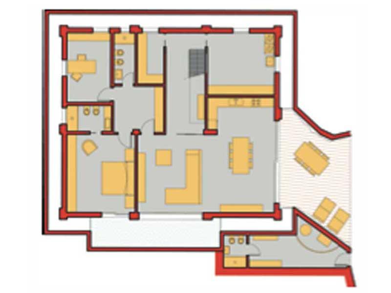 Grundriss Untergeschoss Entwurf Miriam von Rubner Haus
