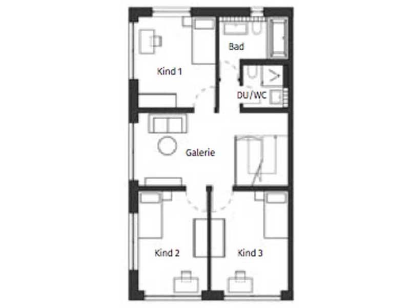 Grundriss 1_Obergeschoss Haus Nicolet von Schwörerhaus