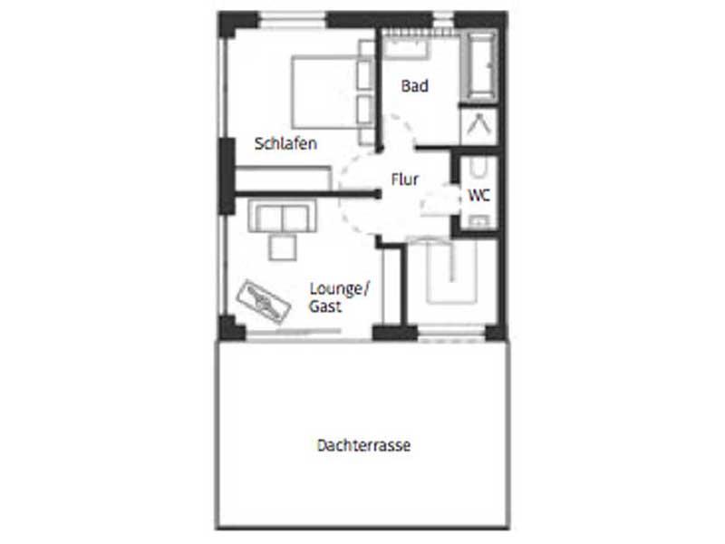 Grundriss 2_Obergeschoss Haus Nicolet von Schwörerhaus