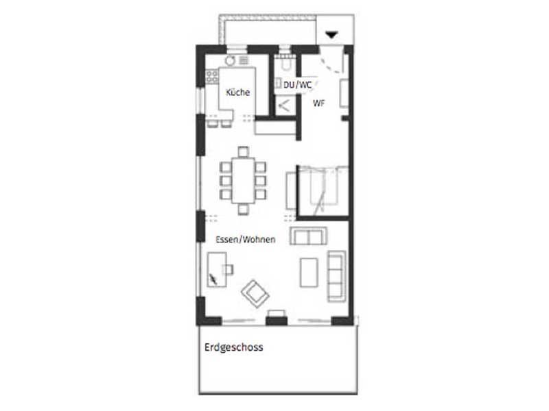 Grundriss Erdgeschoss Haus Nicolet von Schwörerhaus