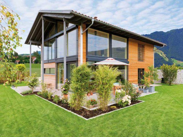 Außenansicht des Öko-Designhauses Kaiser