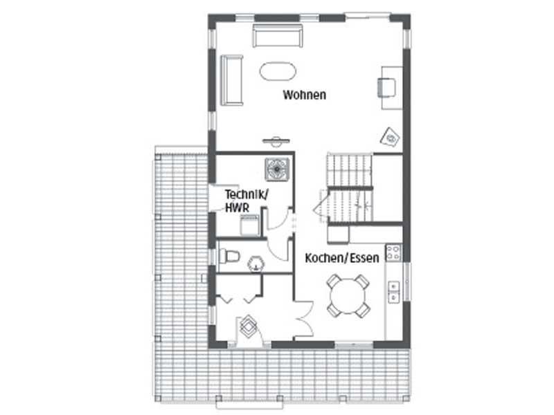 Grundriss Erdgeschoss Entwurf Victorissima von BostonHaus